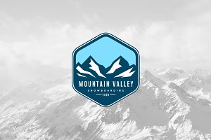 Mountain Valley Logo Template