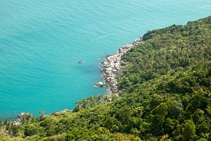 Beautiful seascape. Phangan island.