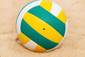 beach volleyball ball on sand