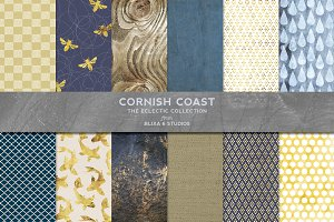 Cornish Coast Gold & Watercolors