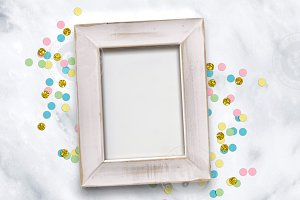 Confetti Frame Party Styled Mockup