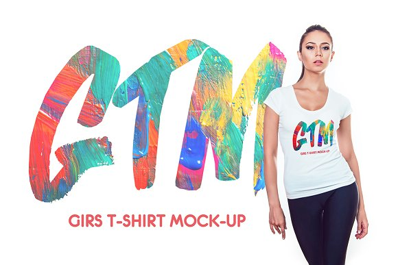 Download Women's T-shirts Mock-Up
