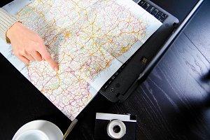 hand on roadmap