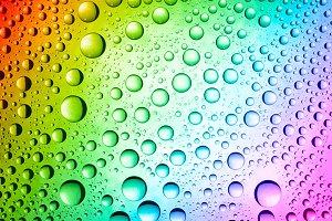 multicolored drops