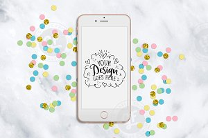 Confetti Party styled iPhone Mockup