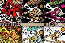 6 Abstract stylish creative print.