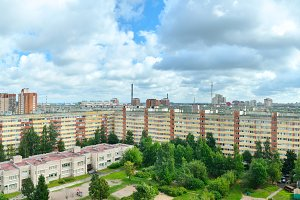panoramic view of a urban architecture in Russia