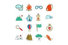 Set of ecotourism icons