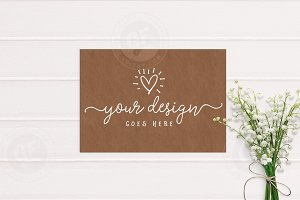Craft Styled Scene Mockup A4 Kraft