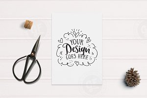 Craft A4 Print Styled Mockup