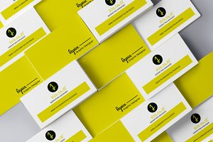 Simple White n Yellow Business Card