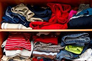 Mess in a wardrobe