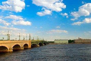 Troitsky bridge, Saint-Petersburg, Russia