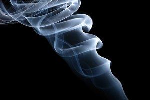 twisted smoke isolated on black background