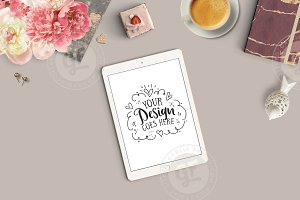 Feminine Styled Stock Photo iPad