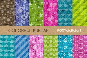 Burlap Texture Digital Papers