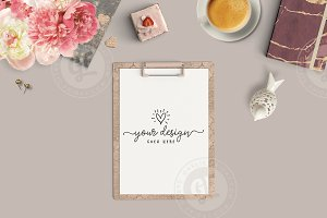 Feminine Styled Desktop Clipboard