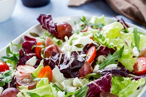 Grape with Radicchio and Feta salad