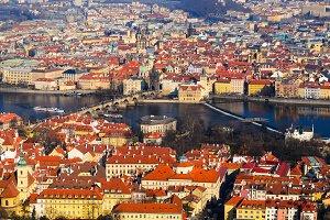 Prague spring view