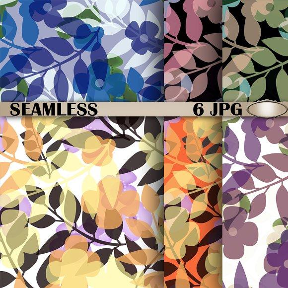 6 Abstract pattern Retro. Autumn. - Patterns