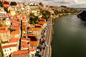 view of Douro river at Porto