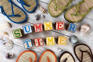 Blocks Spelling Summer Time