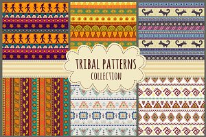 Tribal seamless patterns