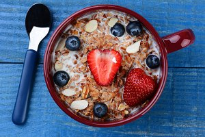 Large Mug with healthy Cereal