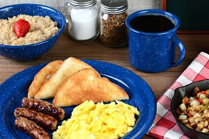Country Style Scrambled Egg Breakfas