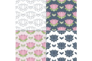 Thai massage seamless pattern
