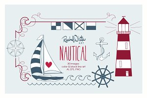 Nautical, Vector & PNG
