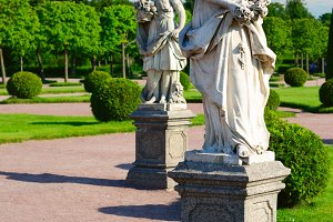 sculptures in Peterhof, Saint-Petersburg, Russia