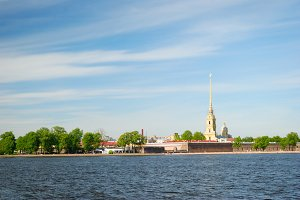 view of peter and paul cathedral, saint-petersburg