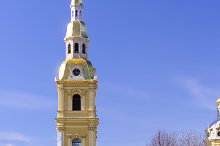 Peter and Paul Cathedral at sunny weather in Saint-Petersburg, R