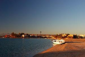 bay in El-Gouna, Egypt