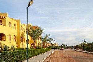 street in El-Gouna, Egypt