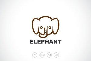 Baby Elephant Logo Template