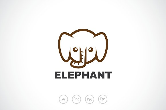 Baby Elephant Template   Baby Elephant Logo Template Logo Templates Creative Market
