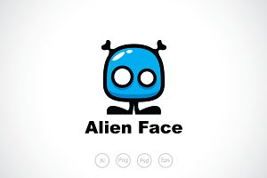 Alien Face Logo Template