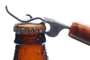 Macro Beer Bottle and Opener