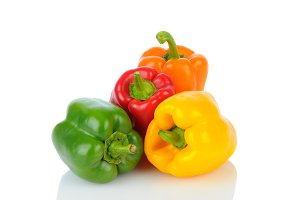 Bell Peppers on White