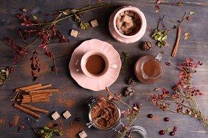 Cocoa with cinnamon
