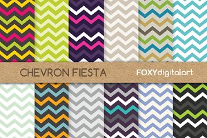 Chevron Scrapbook Paper Packs