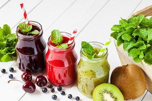 Smoothie from summer fruits