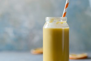 Healthy orange fruit smoothie
