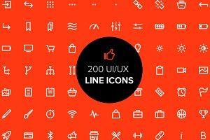 201 UI/UX line icons