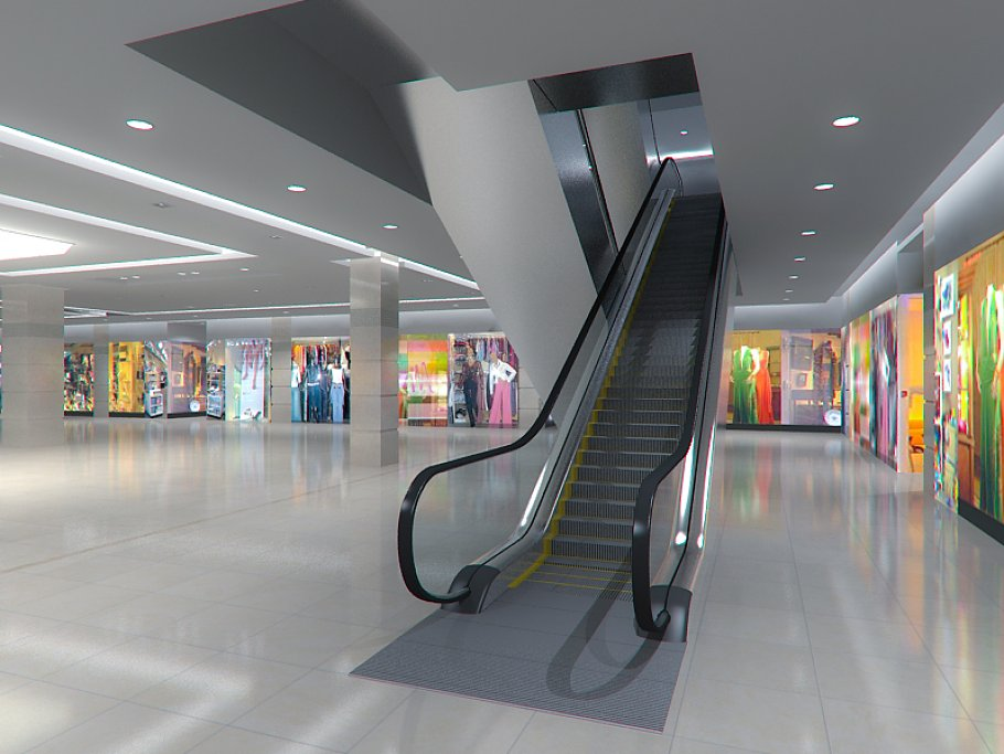 Escalator HD 3D model