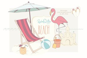 Beach, Vector & PNG