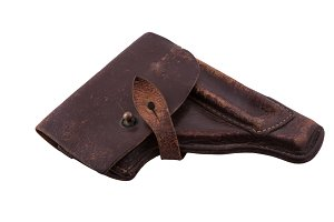 old scratched holster
