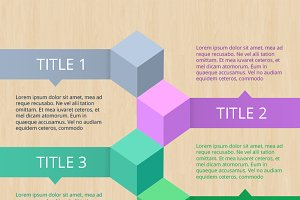 Infographic steps elements Vol. II